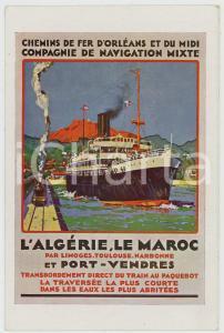1910 ca CHEMINS DE FER D'ORLEANS ET DU MIDI - Algérie et Maroc - Postcard
