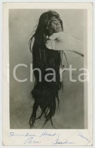 1950 ca PERU Indigenous shrunken head - Vintage photo postcard