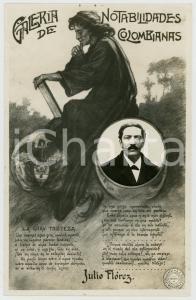 1920 ca COLOMBIA Galeria de notabilidades colombianas - Julio FLOREZ - Postcard