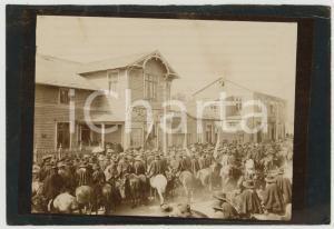 1920 ca OSORNO (CHILE) Diputacion indigena - Foto vintage RARA 13x9 cm