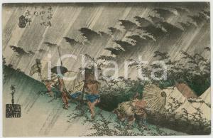 1910 JAPAN UKIYO-E Artist HIROSHIGE Fifty-three Stations of the Tokaido POSTCARD