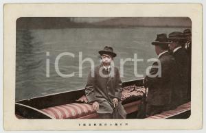 1920 ca JAPAN Crown Prince HIROHITO aboard a boat - Postcard