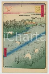 1910 ca JAPAN UKIYO-E Artist HIROSHIGE  - Illustrated MENU card