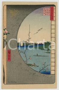 1910 ca JAPAN UKIYO-E Artist HIROSHIGE - View - Illustrated MENU card