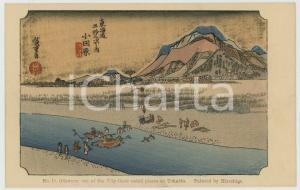 1910 ca JAPAN UKIYO-E Artist HIROSHIGE Odawara: place on Tokaido *Postcard n.10