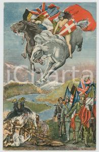 1919 WW1 ITALIA Ricordo della Guerra Europea - Cartolina ILLUSTRATA
