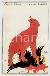1914 WW1 ITALIA Artista Alberto BIANCHI - L'orso bianco - Cartolina PROPAGANDA