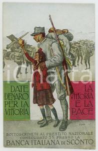 1915 ca PROPAGANDA WW1 Banca Italiana di Sconto *Cartolina FP NV