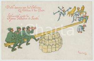 1915 ca PROPAGANDA WW1 Prestito Nazionale Consolidato per la Vittoria Cartolina
