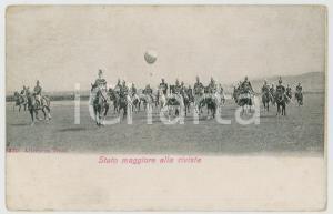1906 ITALIA REGIO ESERCITO Stato Maggiore alla rivista - Cartolina Alterocca