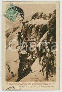 1919 WW1 Achille BELTRAME - Alpini sulla cima della Tuckett Spitz - Cartolina