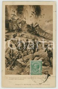 1919 WW1 Achille BELTRAME - Distruzione posto austriaco sul Lavarone - Cartolina