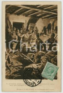 1919 WW1 Achille BELTRAME - Alpini catturano austriaci in osteria - Cartolina