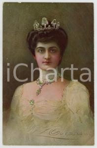 1910 ca CASA SAVOIA Regina Elena d'Italia - Cartolina dis. GUERZONI