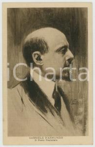 1915 ca WW1 Artista F. VECCHI Gabriele D'ANNUNZIO Ritratto - Cartolina FP NV