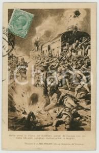 1919 WW1 Achille BELTRAME - Austriaci sul treno respinti a Plava  - Cartolina
