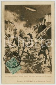 1919 WW1 Achille BELTRAME - Dirigibile lancia bombe a Divaccia - Cartolina