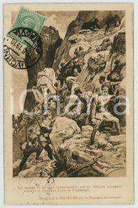 1919 WW1 Achille BELTRAME - Fanteria occupa Cima di Falzarego - Cartolina