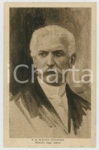 1915 ca WW1 Artista F. VECCHI Sidney SONNINO Ritratto - Cartolina FP NV