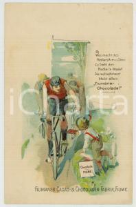 1900 ca FIUME /RIJEKA Fiumaner Cacao & Chocoladen-Fabrik - Postcard vintage adv