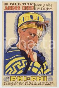 1927 FRANCE Film PHI-PHI - André DEED - Carte publicitaire illustrée