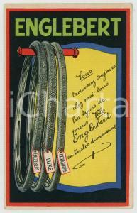 1930 ca BELGIQUE ENGLEBERT pneus vélo - ILLUSTRATED advertising postcard