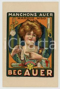 1910 ca BELGIUM - BEC AUER gas lamp - Advertising vintage postcard
