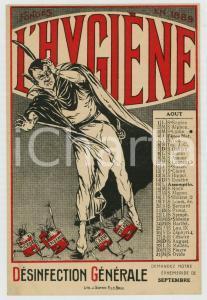 1915 ca  BRUXELLES Arm. DE GEYNDT L'Hygiène - Carte postale Août - Diable