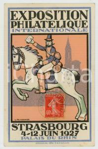 1927 STRASBOURG Exposition Philatélique Internationale - Carte postale ill. KAMM