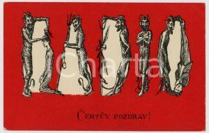 1910 ca DEVILS - KRAMPUS - Certuv pozdrav - Old postcard
