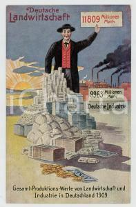 1910 ca GERMANY Gesamt-produktionswerte von Deutsche landwirtschaft - Postcard
