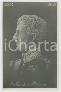 1915 ca METAMORPHIC POSTCARD Charles de Belgique - L'âme de la Belgique 1914-15