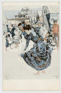 1910 ca Artist Ferdinand  VON REZNICEK - Bathing establishment - Woman *Postcard