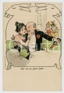 1900 ca GERMANY - ROMANCE - Hab' ich nur deine Liebe... *AK Postkarte