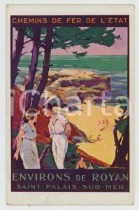 1910ca CHEMIN DE FER DE L'ÉTAT Environs de ROYAN Saint-Palais-sur-Mer - Postcard