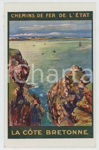 1910ca CHEMIN DE FER DE L'ÉTAT La côte bretonne - Carte postale FP NV