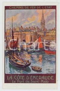 1910 ca CHEMIN DE FER DE L'ÉTAT Côte d'Émeraude - Porte de SAINT-MALO Postcard
