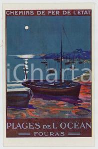 1910 ca CHEMIN DE FER DE L'ÉTAT Plages de l'océan - Fouras - Carte postale FP NV