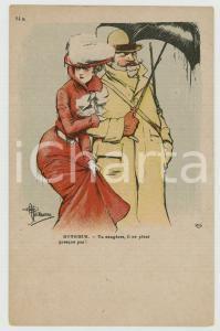 1910 ca HUMOUR Artiste A. GUILLAUME - Il ne pleut presque pas - Carte postale