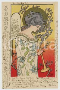 1901 ART NOUVEAU Artist Angel KIESZKOW - Hymns - RARE postcard