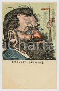 1900 ca FRANCE CARICATURE Edouard DRUMONT journaliste - Carte postale