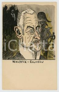 1901 FRANCE CARICATURE Pierre WALDECK-ROUSSEAU politicien - Carte postale