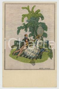 1924 ART DECO - LOVERS Serenade - Artist Bernd STEINER - ILLUSTRATED Postcard