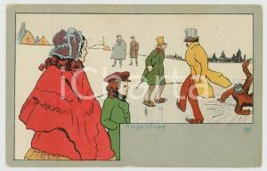 1910 ca BELGIQUE Artiste OG - Plaisir d'hiver - Patinage - Carte postale