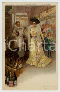 1910 ca Artist Basile LEMEUNIER - DELHAIZE Frères - Vins fins *Postcard n° 12