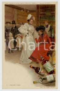 1910 ca Artist Basile LEMEUNIER - DELHAIZE Frères - Liqueurs fins *Postcard n°11