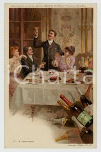 1910 ca Artist Basile LEMEUNIER - DELHAIZE Frères - Le champagne *Postcard n°15