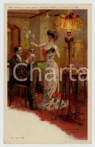 1910 ca Artist Basile LEMEUNIER - DELHAIZE Frères - Le the *Postcard n°14