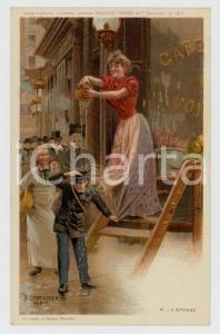 1910 ca Artist Basile LEMEUNIER - DELHAIZE Frères - L'éponge *Postcard n° 12