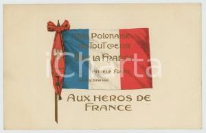 1916 LUCERNE Angele FOUAD Vive la France - Aux heroes de France - Postcard